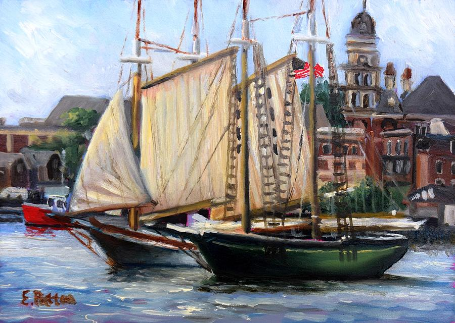 Ardelle and Lannon, Gloucester Harbor by Eileen Patten Oliver