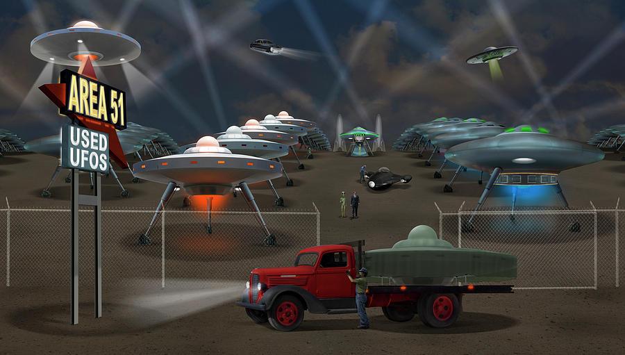 Area 51 Used U F O s H D by Mike McGlothlen