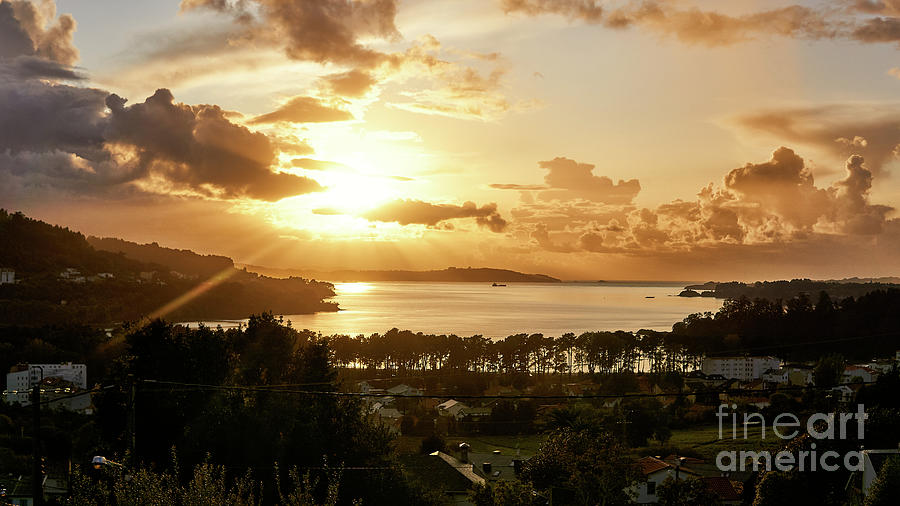 Ares Estuary Sunset Rias Altas Galicia by Pablo Avanzini