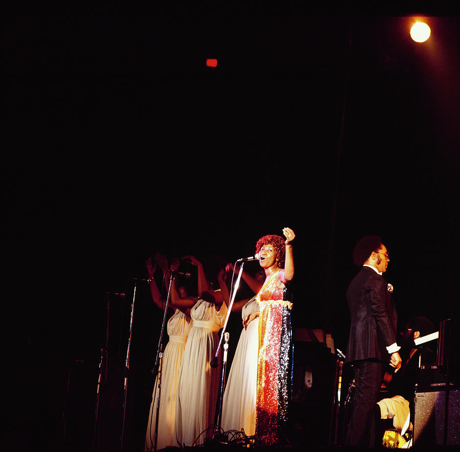 Aretha Franklin Performs At Newport Photograph by David Redfern