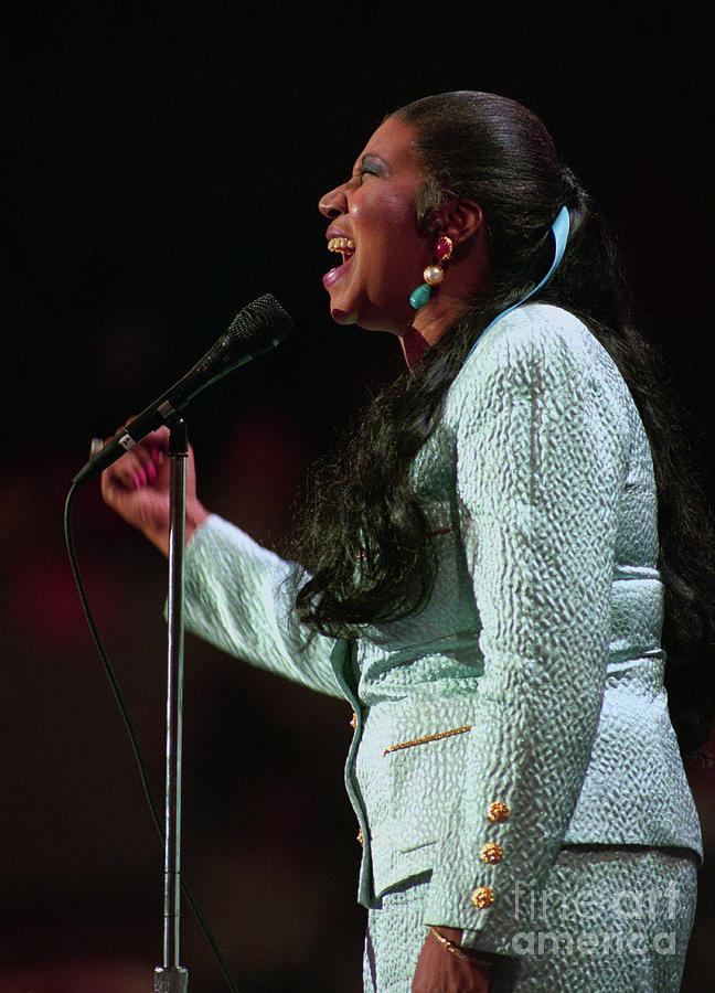Aretha Franklin Singing At Democratic Photograph by Bettmann