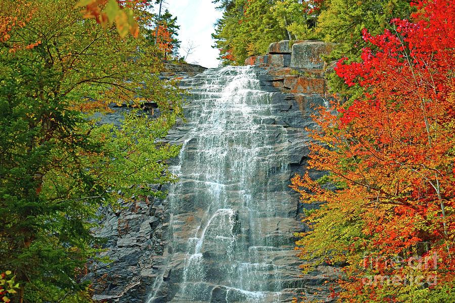 New Hampshire Photograph - Arethusa Falls Wide by Patti Whitten