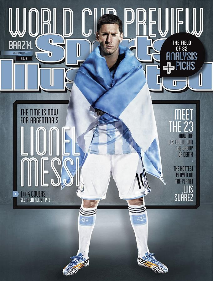 Argentina Lionel Messi, 2014 Fifa World Cup Preview Issue Sports Illustrated Cover Photograph by Sports Illustrated