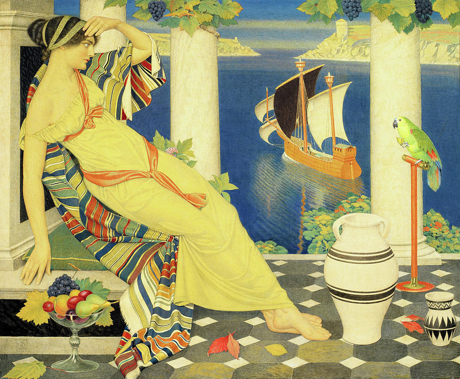 Ariadne Painting - Ariadne On Naxos by Joseph Edward Southall