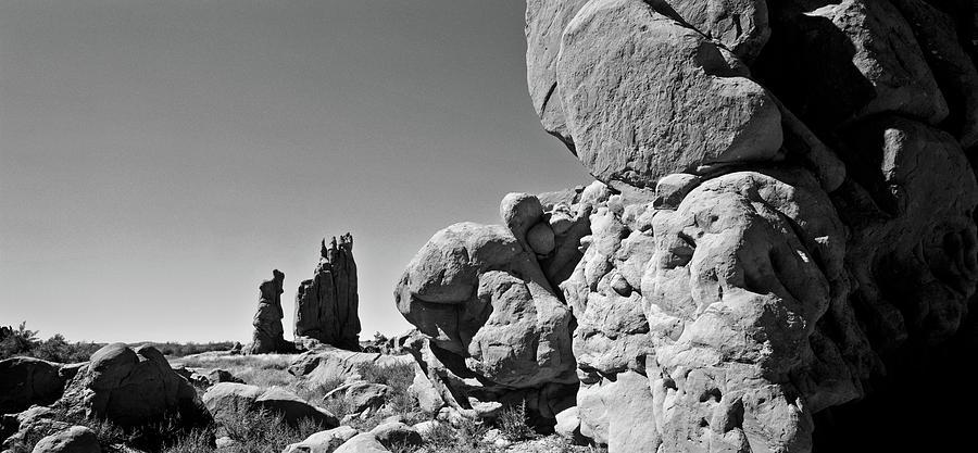 Arizon Rock Formation Monochrome by Craig Brewer