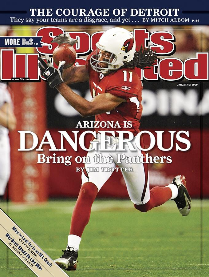 Arizona Cardinals Larry Fitzgerald, 2009 Nfc Wild Card Sports Illustrated Cover Photograph by Sports Illustrated