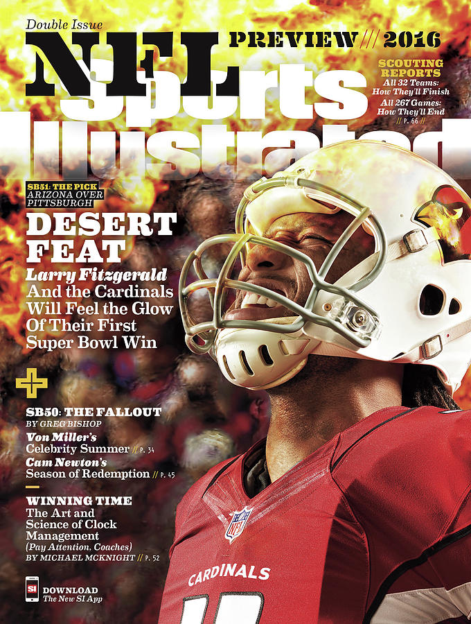Arizona Cardinals Larry Fitzgerald, 2016 Nfl Football Sports Illustrated Cover Photograph by Sports Illustrated