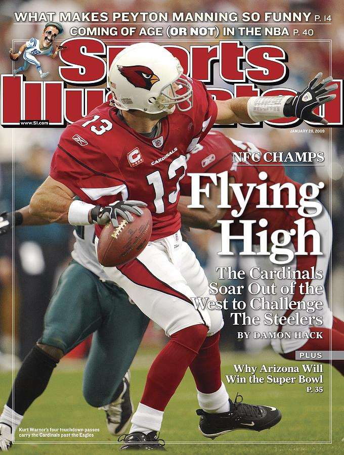 Arizona Cardinals Qb Kurt Warner, 2009 Nfc Championship Sports Illustrated Cover Photograph by Sports Illustrated