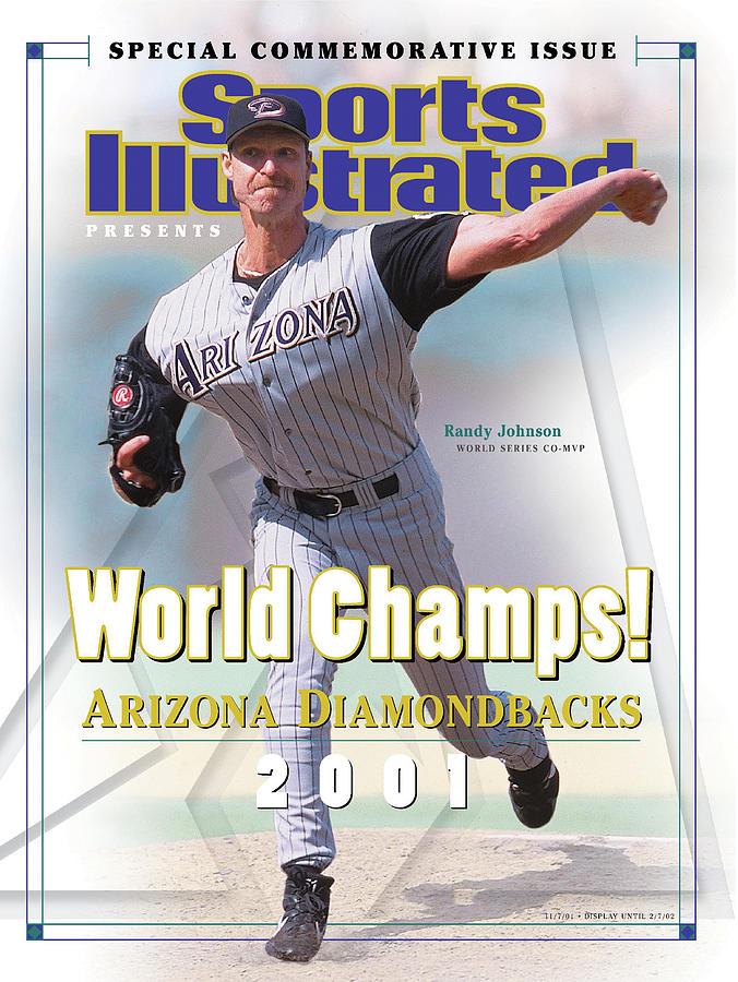 Arizona Diamondbacks Randy Johnson, 2001 World Champions Sports Illustrated Cover Photograph by Sports Illustrated