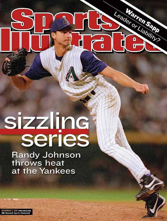 Arizona Diamondbacks Randy Johnson, 2001 World Series Sports Illustrated Cover Photograph by Sports Illustrated
