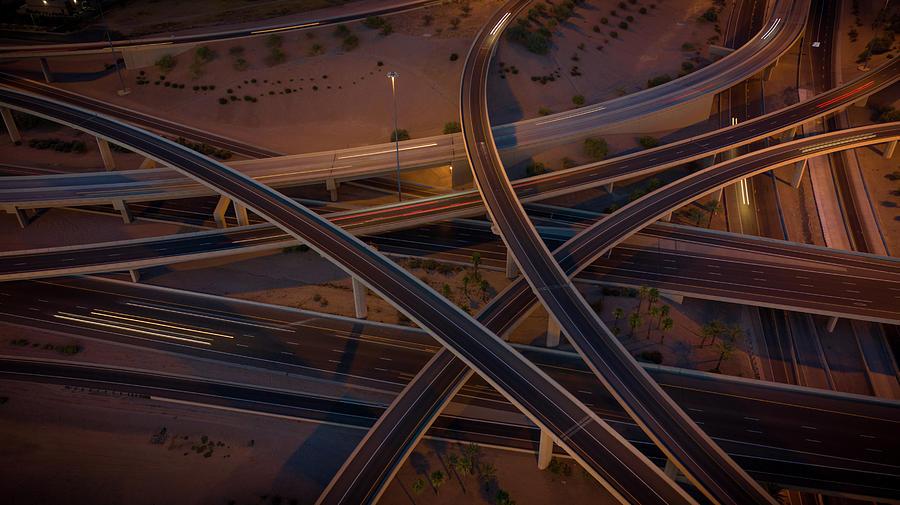 Arizona Highway Exchange  by Ants Drone Photography