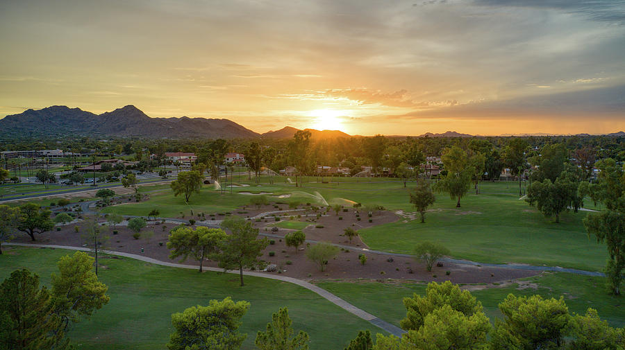 Arizona McCormick Resort Golfcourse Sunset  by Ants Drone Photography