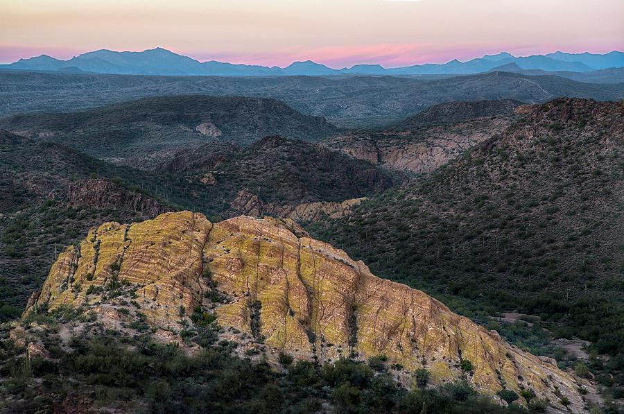Arizona rocky landscape at Sunset by Dave Dilli