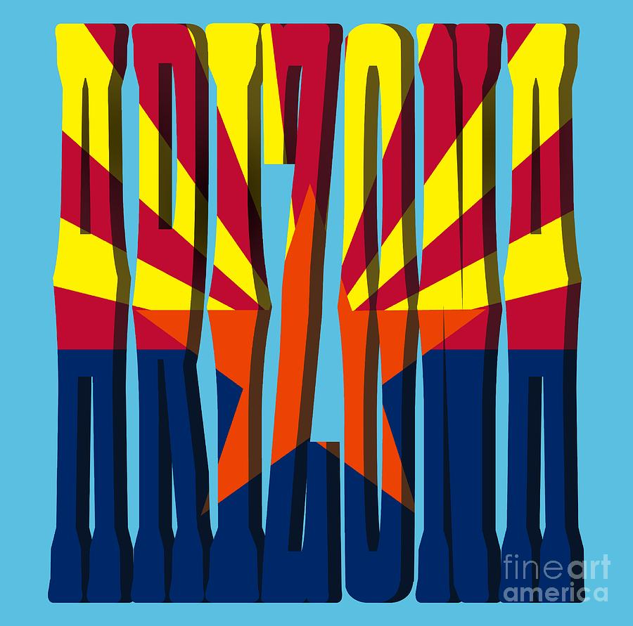 ARIZONA State Flag by Gravityx9 Designs