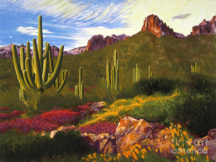 Arizona Superstition Mountain by Michael Stoyanov