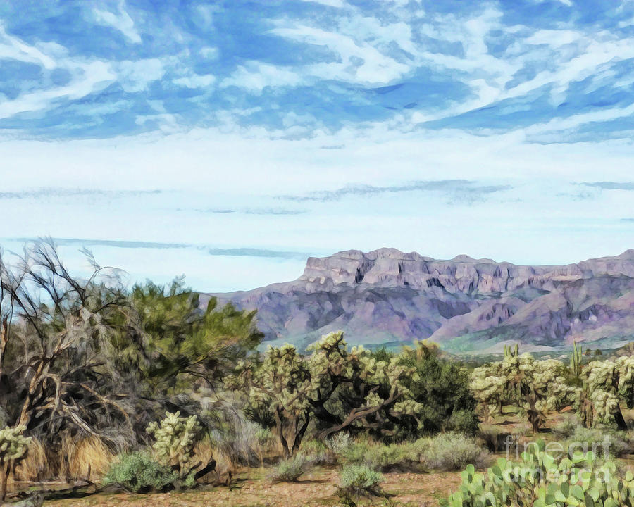Arizona Superstition Mountains by Methune Hively