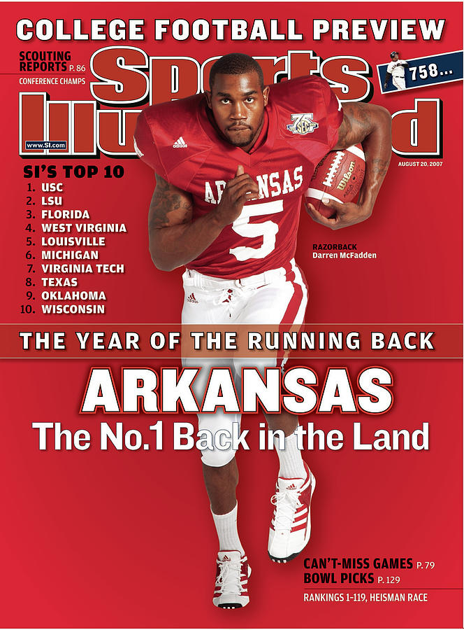 Arkansas Darren Mcfadden, 2007 College Football Preview Sports Illustrated Cover Photograph by Sports Illustrated