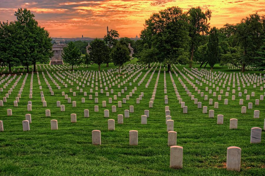 Artist Photograph - Arlington National Cemetery Sunrise by Craig Fildes