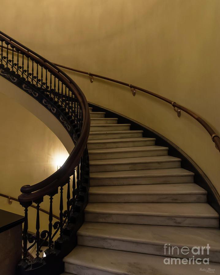 Abstract Photograph - Arlington Spiral Stairs by Jennifer White