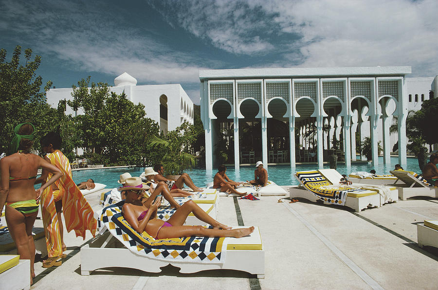 Armandos Beach Club Photograph by Slim Aarons
