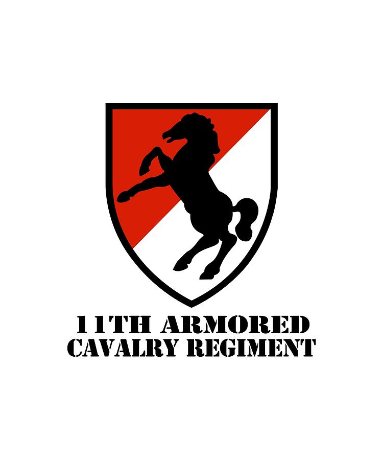 Army 11th Armored Cavalry Regiment Veteran Full Color Patriotic Digital Art By Jett Maloney