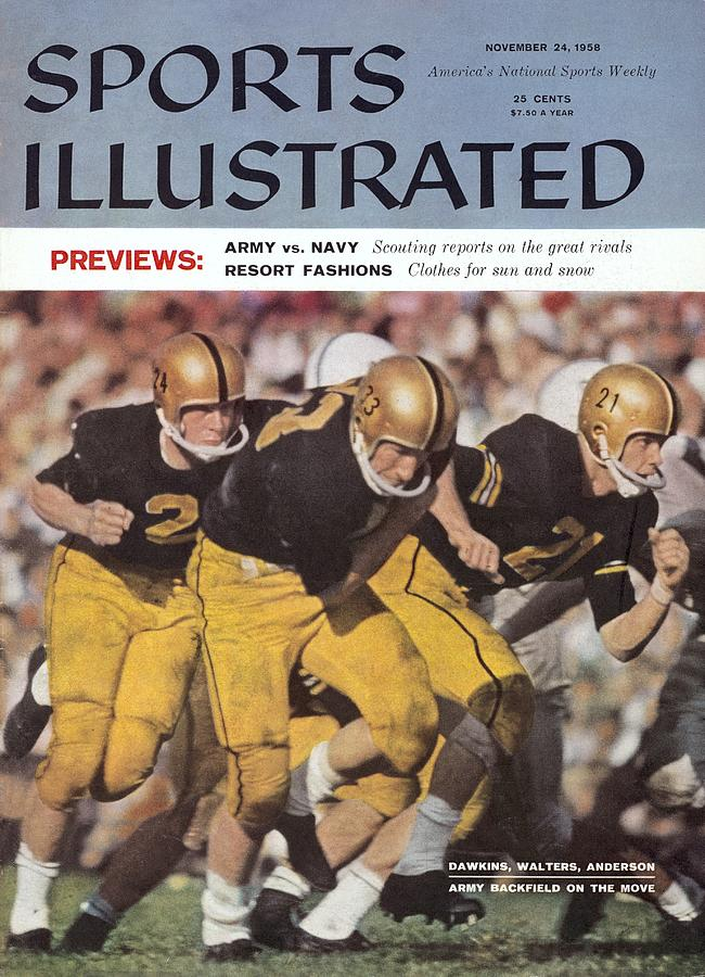 Army Pete Dawkins, Harry Walters, And Bob Anderson Sports Illustrated Cover Photograph by Sports Illustrated