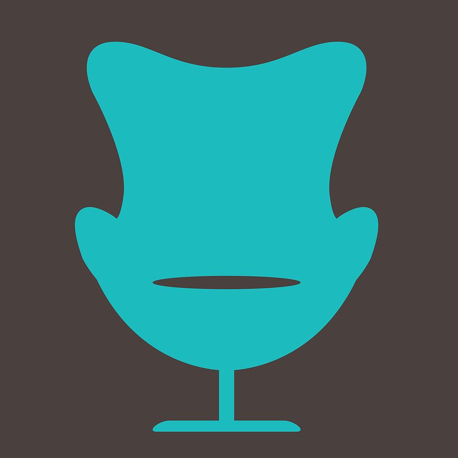 Mid-century Digital Art - Arne Jacobsen Egg Chair  by Naxart Studio