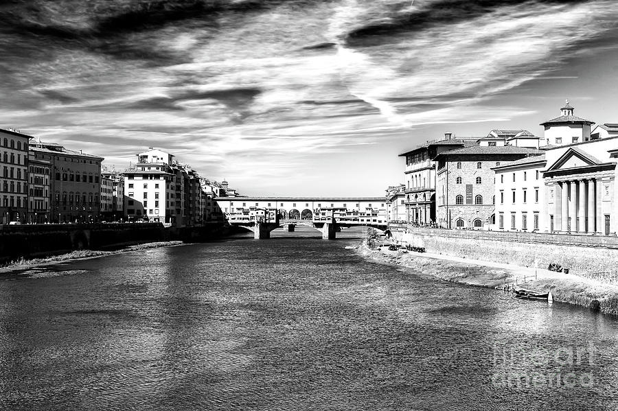 Landscape Photograph - Arno River View In Florence by John Rizzuto
