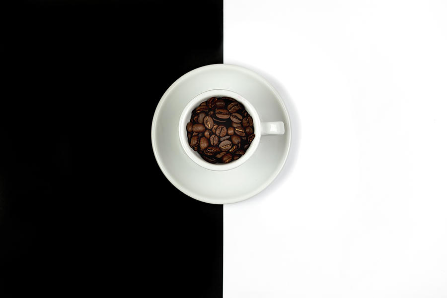 Aromatic Coffee Beans On The Pot Photograph