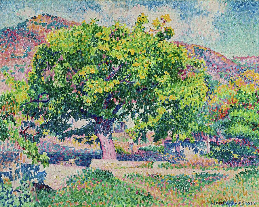 Henri Edmond Cross Painting - Around My House, 1906 by Henri Edmond Cross