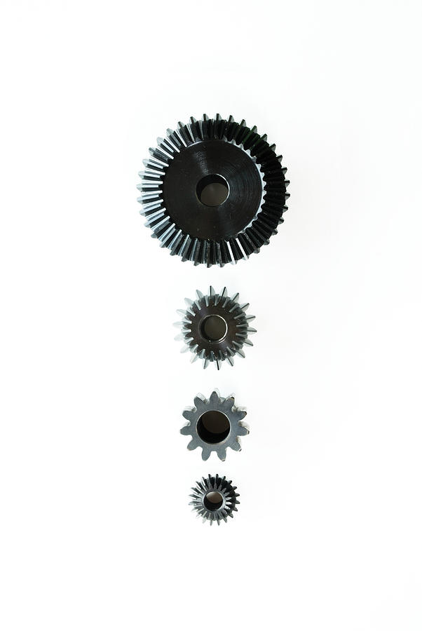 Arrangement Of Plastic Cogs, Overhead Photograph by Erik Von Weber