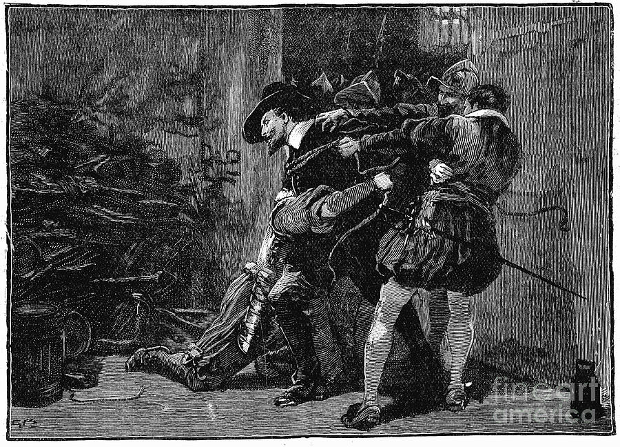 Arrest Of Guy Fawkes In Cellars Drawing by Print Collector