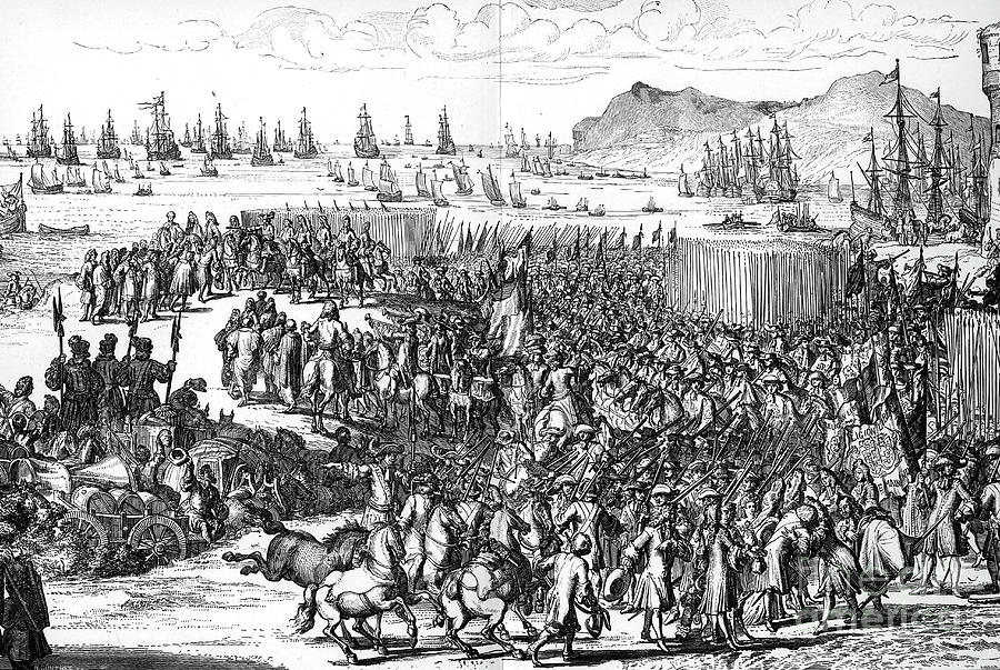 Arrival Of William Of Orange Drawing by Print Collector