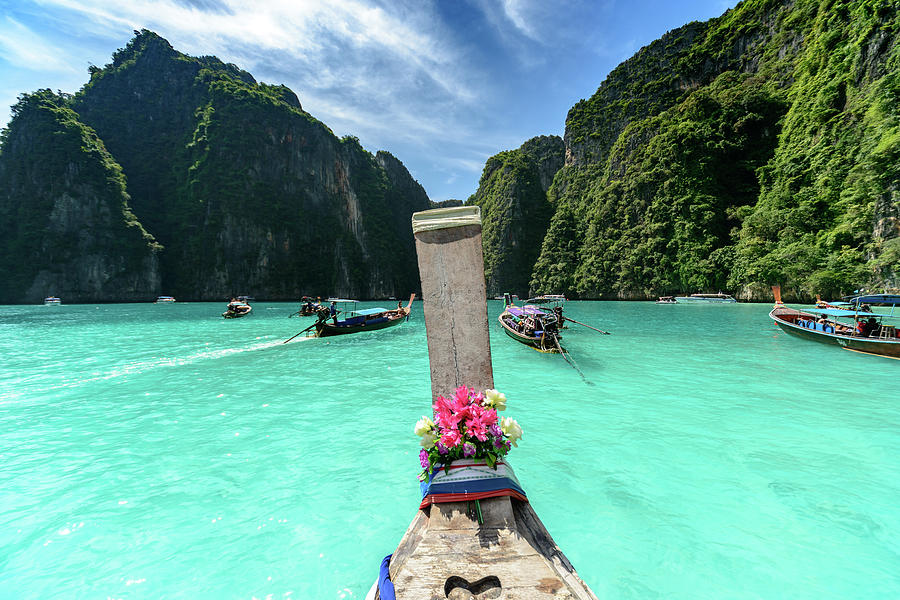 Thailand Photograph - Arriving In Phi Phi Island, Thailand by Ian Robert Knight