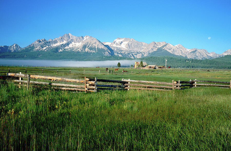 Arrow A Ranch And Sawtooth Mountains Photograph by Holger Leue