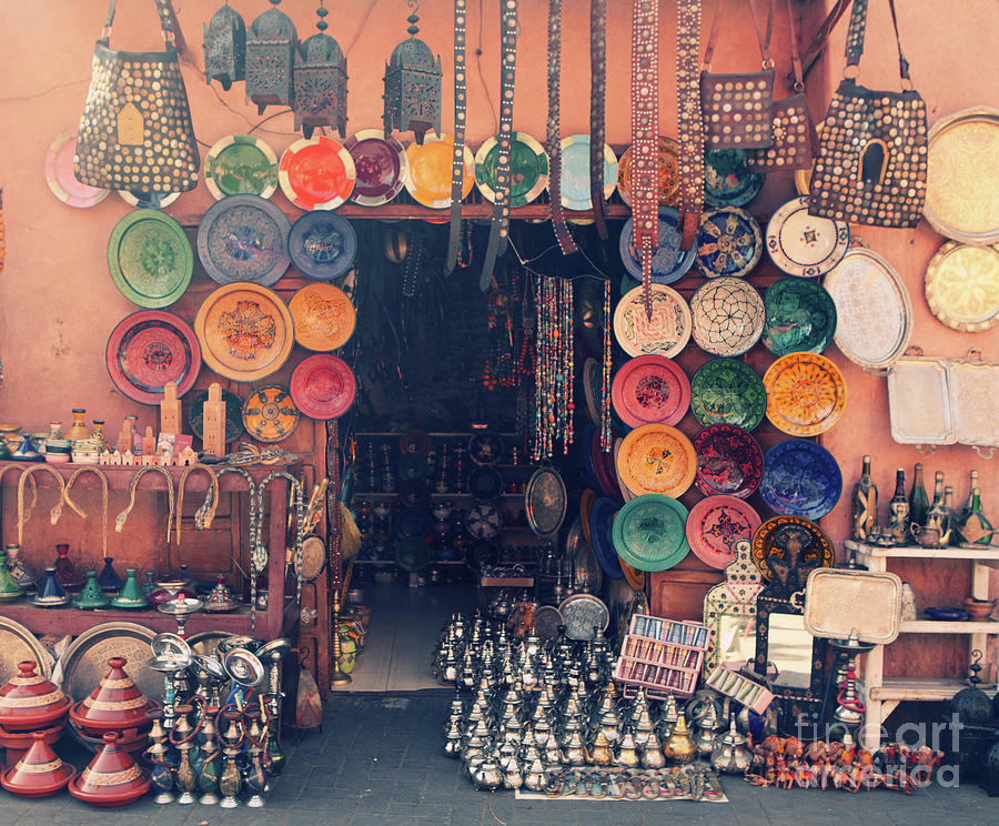Art And Craft Shop In Marrakesh, Morocco Photograph by Tunart