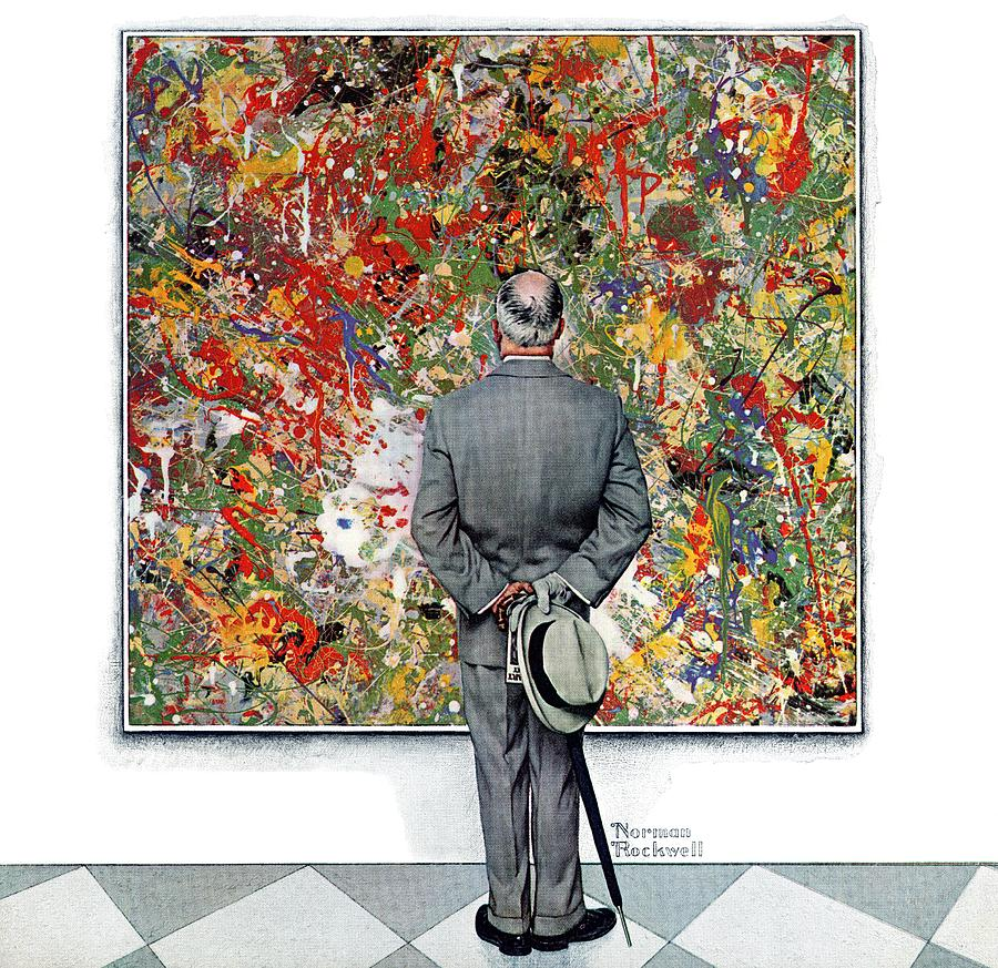 Critic Drawing - Art Connoisseur by Norman Rockwell