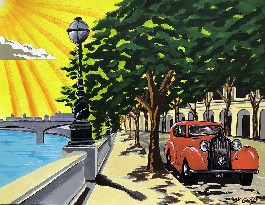 Art Deco Chelsea Embankment Painting