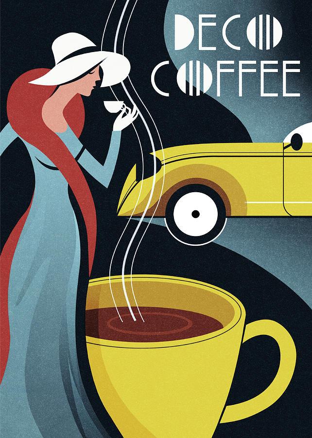 Coffee Digital Art - Art Deco Coffee by Martin Wickstrom