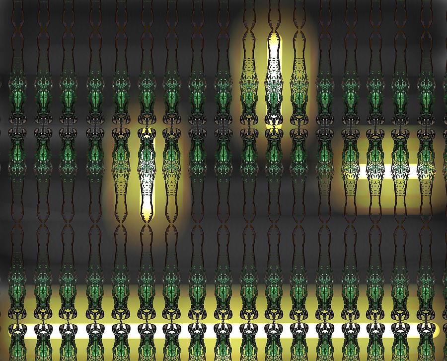 Stratton Digital Art - Art Deco Design 16 by Joan Stratton