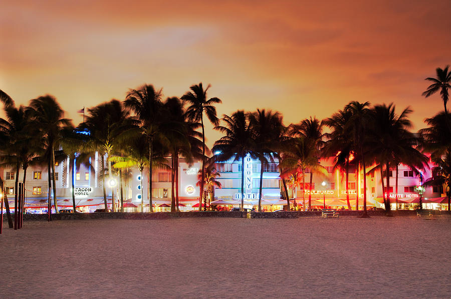 Art Deco District Miami South Beach Photograph by Ixefra