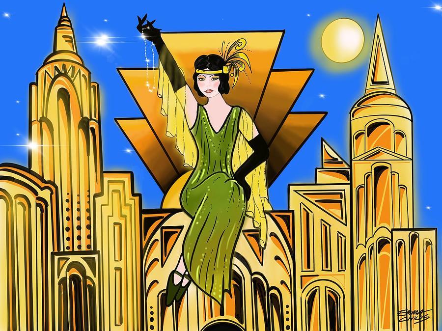 Art Deco High Life Painting