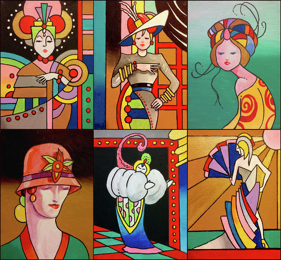 Art Deco Digital Art - Art Deco Ladies 8 by Howie Green
