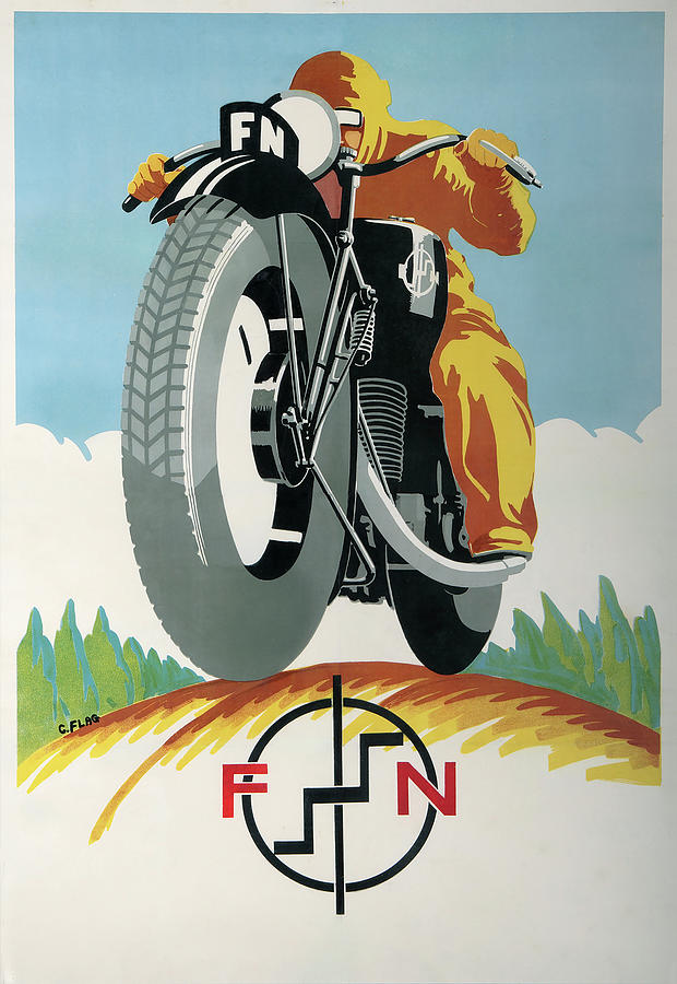 Motorcycles Mixed Media - Art Deco Motorcycle Ad 1934 by Vintage Lavoie