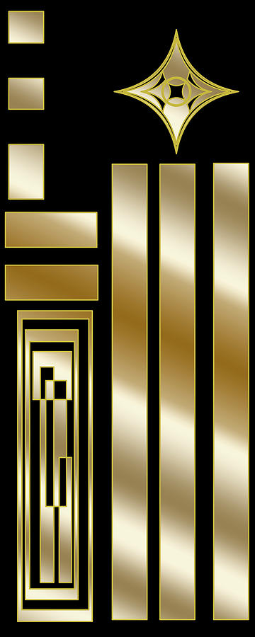Art Deco Panel 1V by Chuck Staley