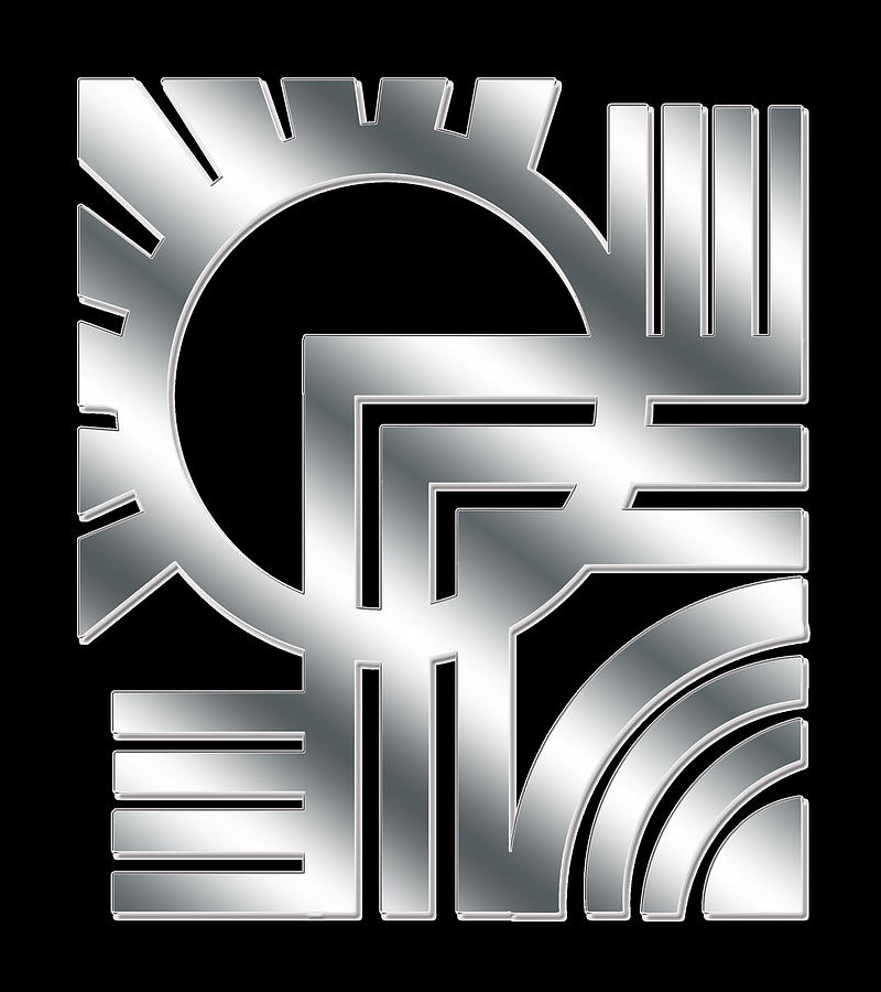Art Deco Silver Design 1 by Chuck Staley
