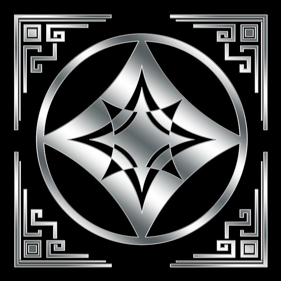 Art Deco Silver Design 3 by Chuck Staley