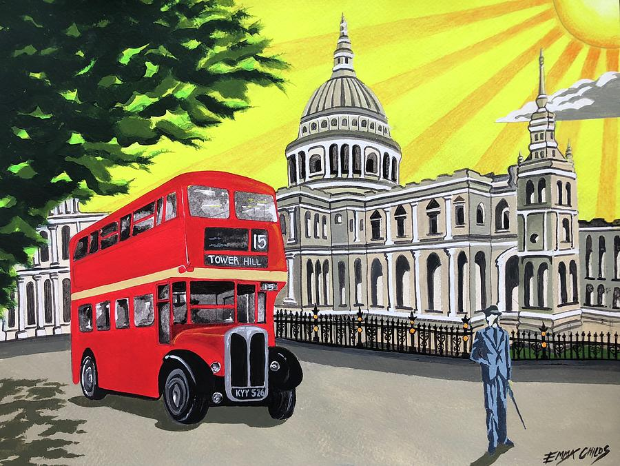 Art Deco St Pauls Cathedral Painting