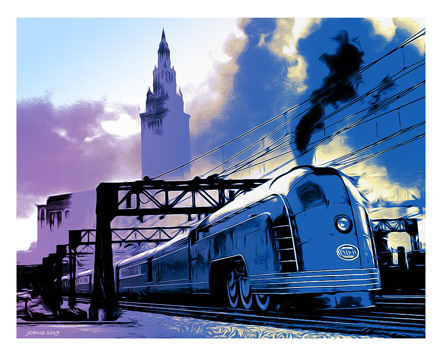 Art Deco Train Digital Art