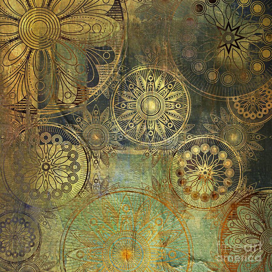 Blot Photograph - Art Grunge Stylized Damask Floral by Irina qqq